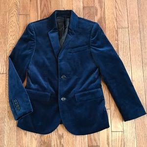 Boys J.Crew Ludlow Velvet Blazer Jacket Size 10